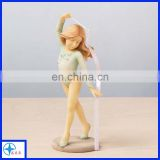 young gymnast with ribbon base figurine-sports figurine