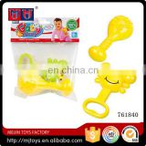 new promotion happy rock bell 2pcs rattle baby toys