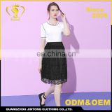 1222 Fashion lace old woman skirt summer mum maxi loose old lady skirts