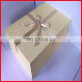 Nice design big wedding box packaging with ribbon bow