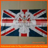 polyester printed 1x2M UK custom flag for handing or pole