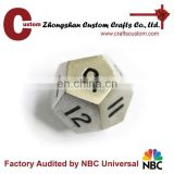 Popular 12 sides metal custom educational dice