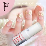 3g pink Nail glue cyanoacrylate nail art for stick fake/artificial nail