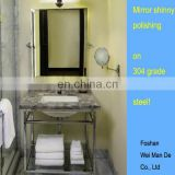 customized design hotel commercial bathroom cabinet vanity with shelf