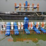 2HP Four wheel structure shrimp pond peddle wheel aerator for aquaculture