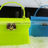 2013 new arrival cheap Rubber/pvc/silicone women's Summer jelly handbag, cute tote bag
