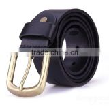 LBB-355001 Alloy Buckle Genuine Cowhide Leather Black Business Belt