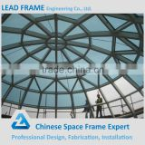 Free design dome space frame glass roof conference hall