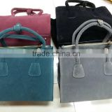 4 colour women suede bags handbags stock