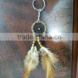 Key Chain, Fashion Promo Gifts & Crafts, Tribal Feather Dreamcatcher Jewelry Accessory