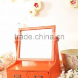 Chinese OME Balsa Wood Box For Jewelry,Small jewellery box packaging, gift box with mirror