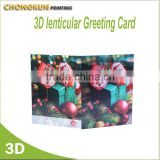 Professional Customized Greeting 3D Lenticular Card.3d animated Christmas Card