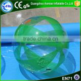 Funny game green and clear big water ball inflatable,water walking ball price