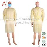Blue Color XL Size Diposable Isoaltion Gown Sterile Surgical Gown With Knitted Cuff