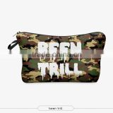 2015 10 pcs to buy factory direct sale New Arrival camouflage Promotional cosmetic bag for fashion women travel