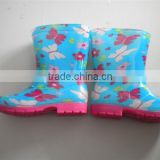 transparent crystal princess lostland light PVC rain boot