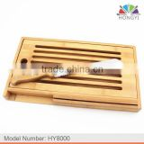 Environmentally friendly all design bamboo breadboard with 8-inch bamboo handle bread knife                                                                         Quality Choice