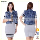 Cool Design Women Jacekts Denim Short Jackets Fancy Jackets                                                                         Quality Choice