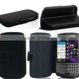HOT SELLING Ultra thin stand wallet leather Mobile Phone Case cover for blackberry Q 10