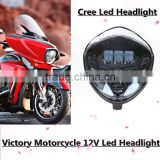 Victory Motorcycle Accessories 12V Led headlight headlamp for 2010-2016 Cross Models, Hard Ball, 07-16 Cruisers