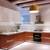 Linkok Furniture Factory wholesale cheap price factory direct made in china acrylic UV laminate kitchen cabinet                                                                         Quality Choice