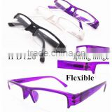 Slim Plastic Half-Frame Reading Glasses With Good Spring Hinge
