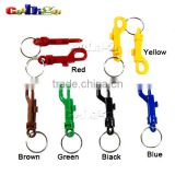 Mix Color Plastic Snap Hooks Rotary Cord Hole 6.5mm With Split KeyChain O-Ring 30mm Dia. For Backpack #FLC018-AO(Mix-s)
