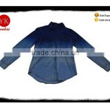 Fashion bleach wash ladies shirts ,denim blouse Product Type and Polyester/Cotton Shell Material denim shirts