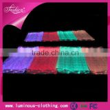 LED lighting fiber optical luminous fabric cloth wholesale tencel denim fabric