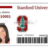 China supplier pvc printed free sample employee or students facebook id cards