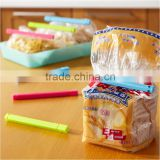Utility creative 6pieces/lot 3 color plastic closure clip household plastic bag clips retain freshness household helper 16*1CM