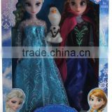 DIHAO 2016 new Fashion doll figure;Plastic Elsa doll with clothes;Vinyl Frozen Elsa doll toy