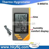 Digital LCD Indoor/Outdoor Thermometer Humidity Hygrometer With Min/ Max Value And Clock