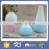 Wholesale products blue artificial flowers ceramic decoration vase