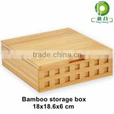 Bamboo bins Trapezoid tea storage box