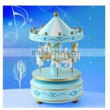 wooden toy carousel music box
