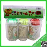 Promotional toothpicks with flag,plastic toothpicks with brush