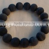 Black Buffalo horn beads bracelet, matte finished