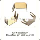 Nickel free Brass four-jaw bottom stopper No.10 zipper garment accessories