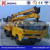 Truck bed fixed hydraulic boom lift platform for rental and dealing