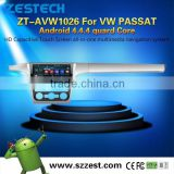 3W WiFi Phone OBDII Car DVD Navigation system For VW Passat with Android4.4.4 up to 5.1 1.6GHZz MCU 4 core support all APP