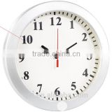 T30 720P hidden alarm clock secuirty camera motion detection Multi-function Wall Clock Wireless IP Camera with battery