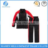 CHILDREN BOY JOGGING SET TRACK SUITS Contrast color inserts on the jacket and trousers