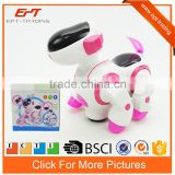 Hot selling electric walking dog battery operated dancing robot dog with music&light