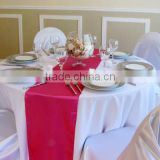 facotry sell high quality satin table runner for hotel teble