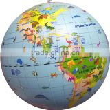 hot sale pvc inflatable water beach ball, outdoor toys giant inflatable earth globe beach ball,