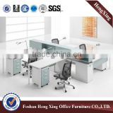 2016 newest modern design light color 4 seaters office partition HX-PT004