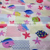 Luxury double side brush printed 100 cotton twill fabric china manufacturers baby fabric for baby blanket