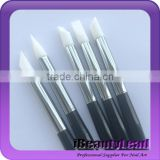 New product silicone nail brush nail Carving Tool 5pcs