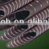 Fin tube for heat exchanger equipment or refrigeration